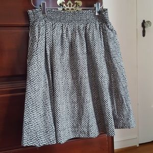 Eileen Fisher Black Dot Skirt, Size Large